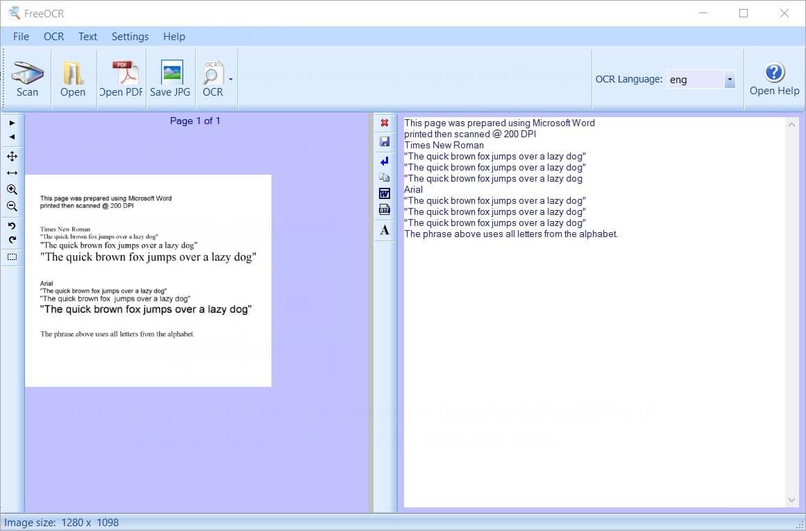 FreeOCR - Kostenlose Texterkennung Download