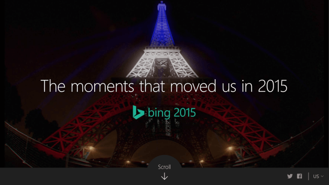 Bing Such-Hitliste 2015