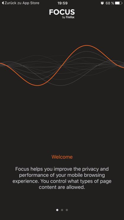 Trackingschutz in iOS mit Mozilla Focus