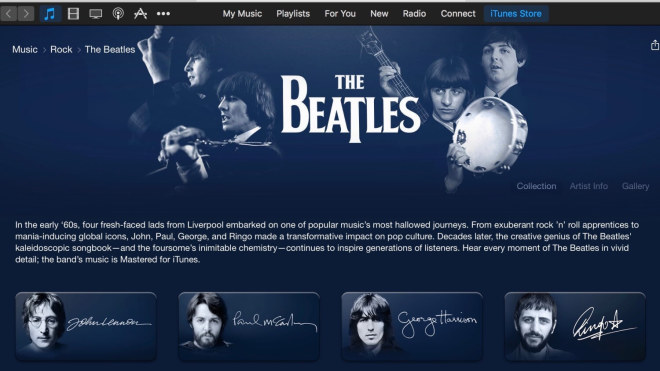 Die Beatles bei iTunes