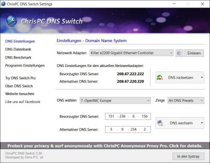 ChrisPC DNS Switch