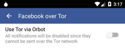 Facebook: Android-Messenger via Tor