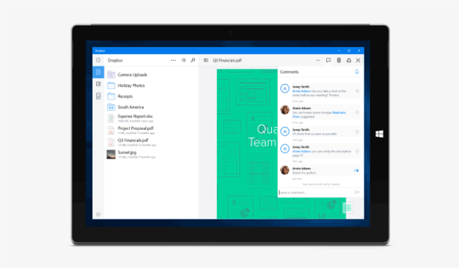 Dropbox f�r Windows 10