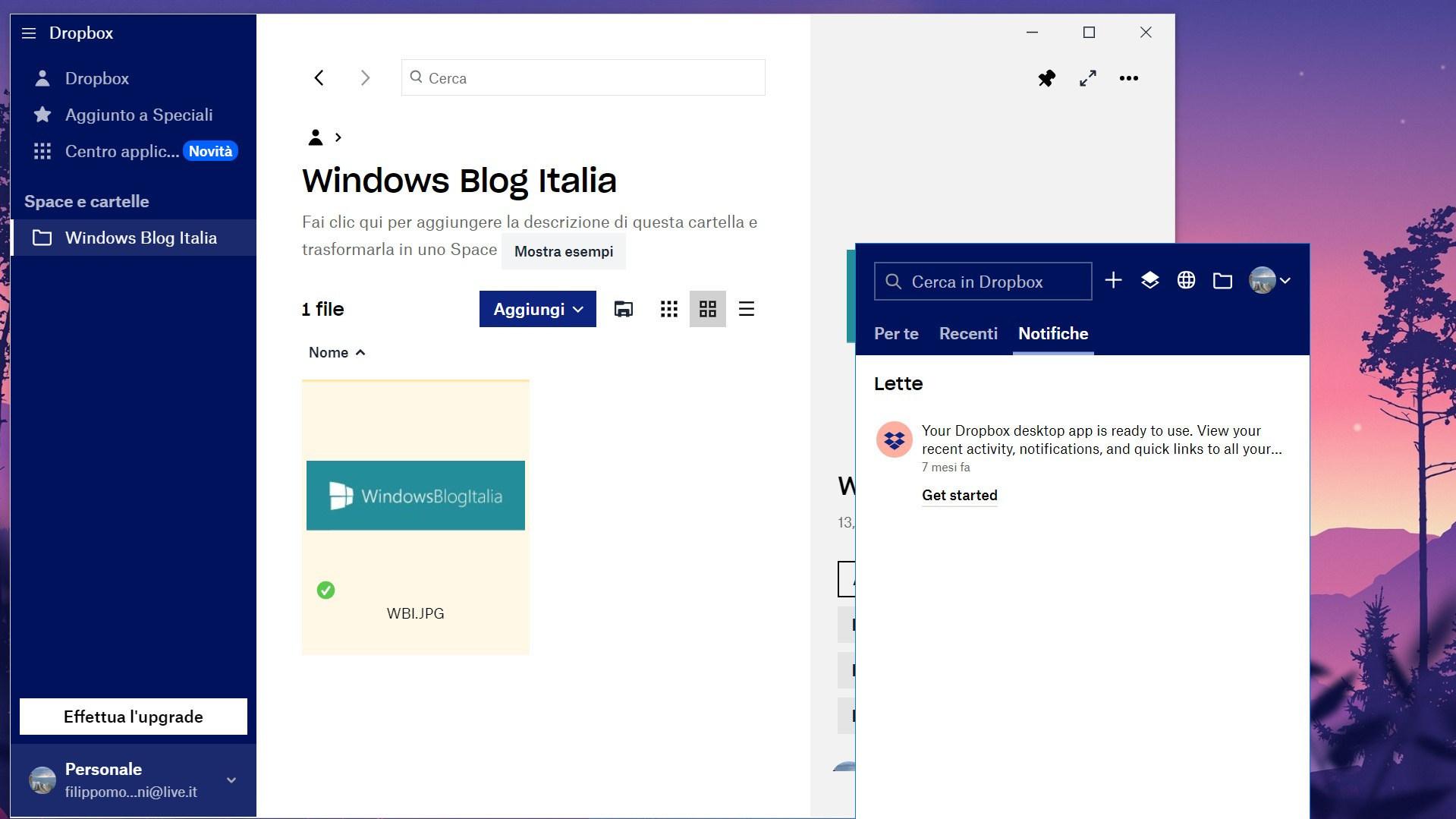 Dropbox für Windows 10