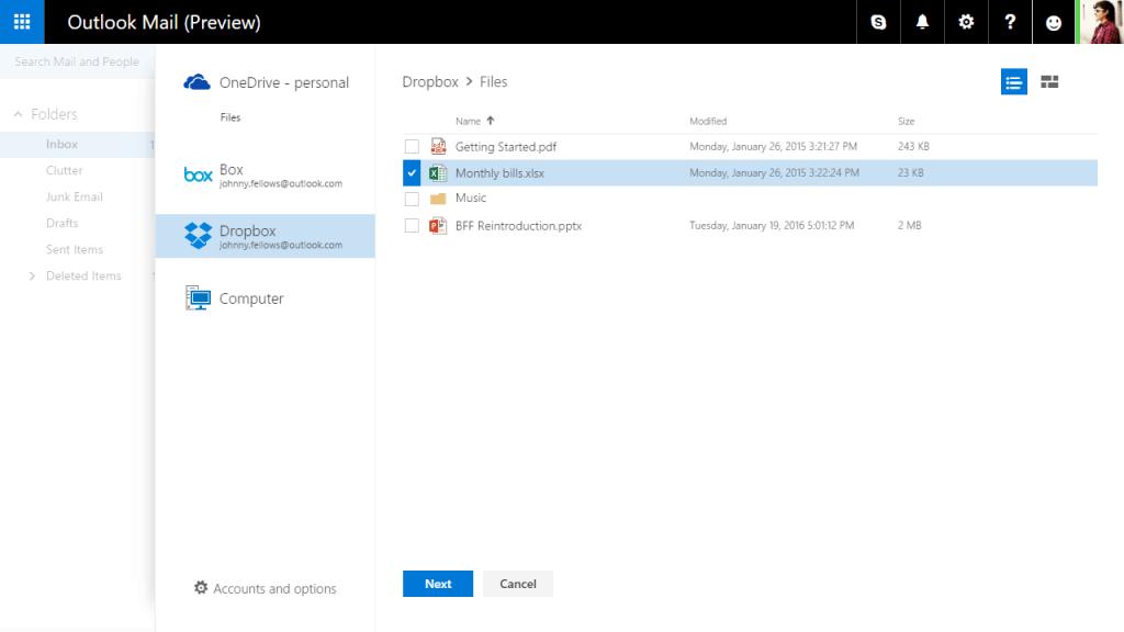 Office Online und Mobile mit Dropbox-Anbindung