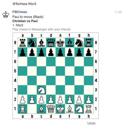 Schach im Facebook Messenger