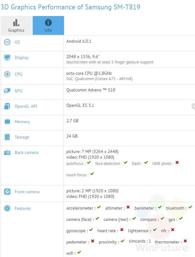 Samsung Galaxy Tab S3 9.7
