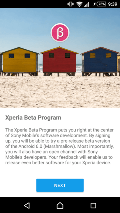 Xperia Beta Program