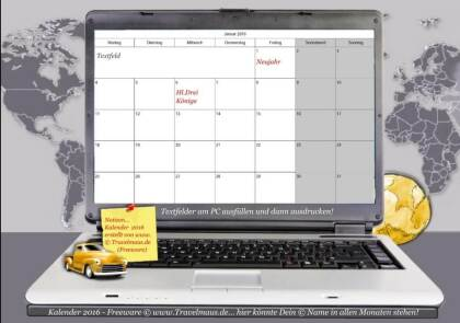 PC-Kalender 2016