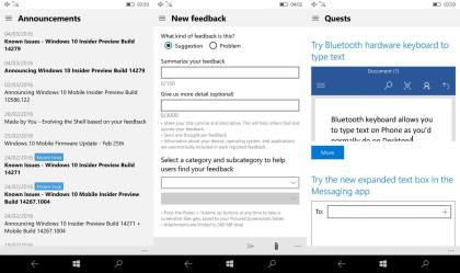 Windows 10 Redstone: Feedback Hub