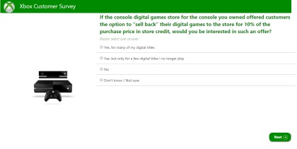 Umfrage zur Spiele-Rückgabe