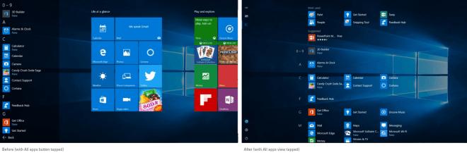 "Windows 10 ""Redstone"" Startmenü-Konzept"