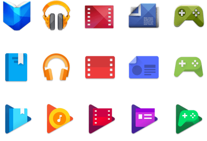 Neue Play-Store-Icons (2016)