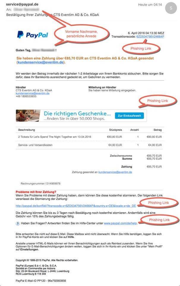 Amazon und PayPal: Neue Phishing-Welle mit immer \