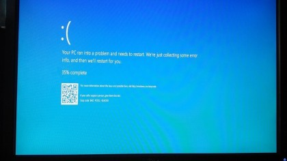 Windows 10: BSOD mit QR-Code