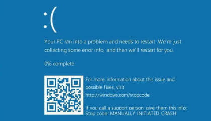 Windows 10: BSOD mit QR-Code