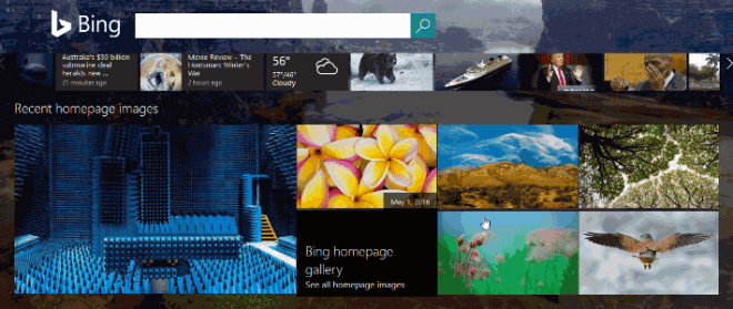 Bing Re-Design Mai 2016