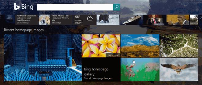 Bing Re-Design Mai 2016
