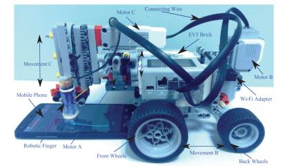 Lego-Roboter für Gesten-Angriffe
