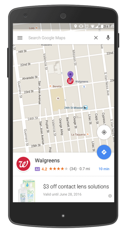 Google Werbe-Pins in Maps