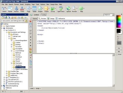 First Page 2006 - kostenloser HTML-Editor