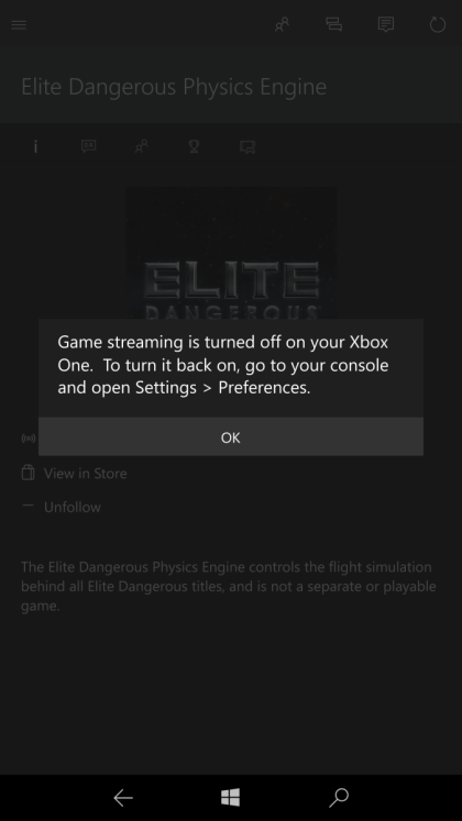 Xbox Streaming in Windows Mobile Build