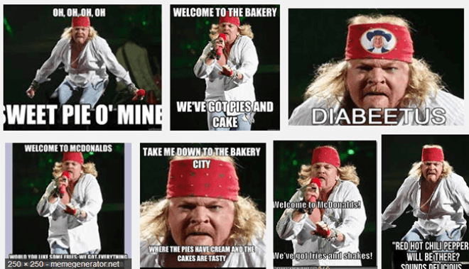 Axl Rose Fat Meme