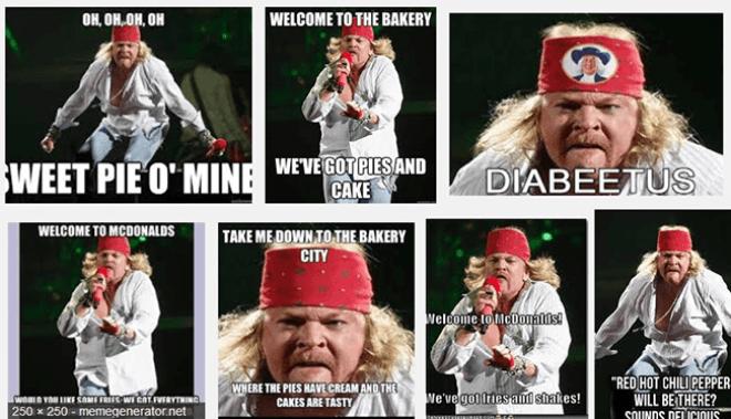 Axl Rose Fat Meme