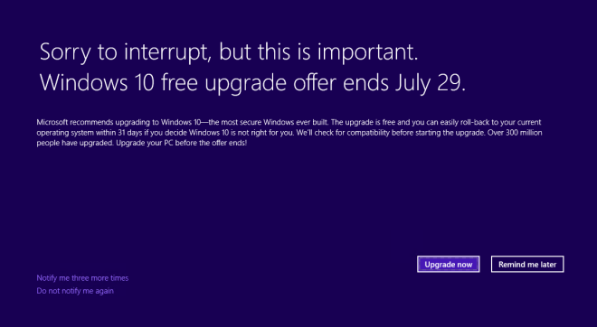 Windows 10 Upgrade Aufforderungs-Update KB3173040