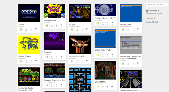 Amiga-Games auf Internet Archive