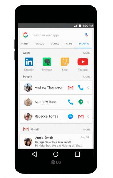 Google In Apps Suche