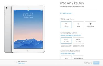 iPad Preisänderungen