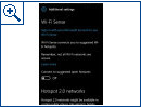 Windows 10 Mobile: Neue WLAN-Einstellungen