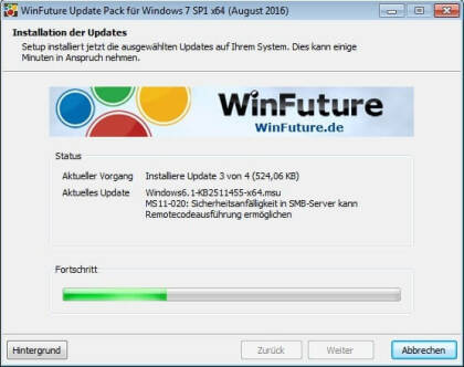 WinFuture Windows 7 SP1 Update Pack (Vollversion)