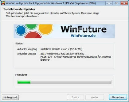 WinFuture Windows 7 SP1 Update Pack (Upgrade)