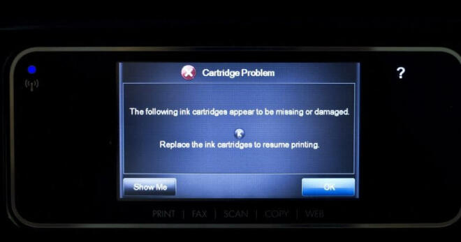 HP-Drucker: Fehlermeldung zu Cartridge