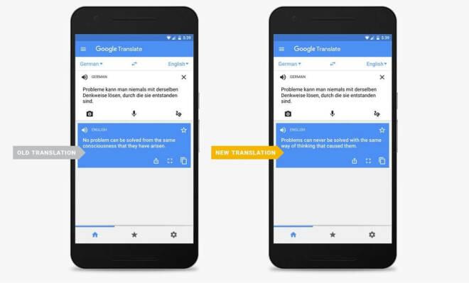 Google Translate mit Neuronalen Netzen