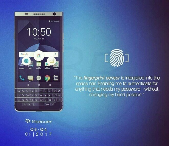"Blackberry ""Mercury"" BBB100-1"
