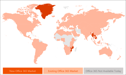 Verfügbarkeit von Office 365