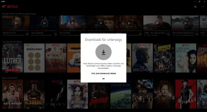 Netflix Offline-Wiedergabe