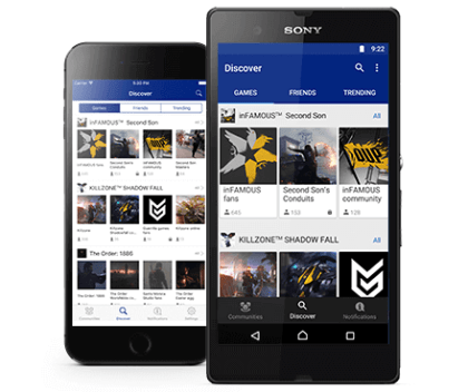 "PlayStation 4 ""Communitys""-App"