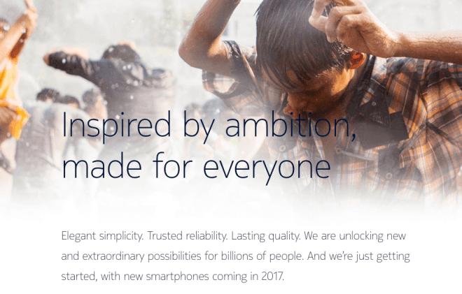 Nokia-Comeback Webseite