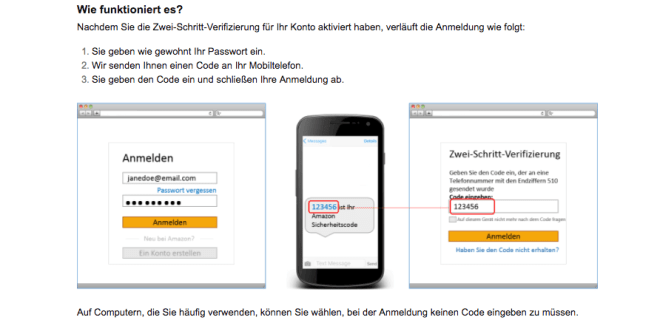 "Amazon ""Zwei-Schritt-Verifizierung"""
