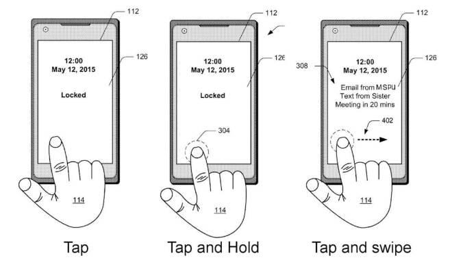 Microsoft Patent: Fingerabdruckleser im Display mit Gesten