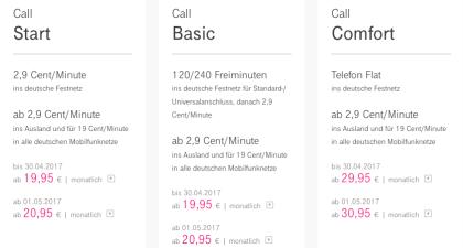 Deutsche Telekom erhöht Preise für Uralt-Tarife