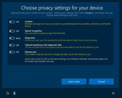 Windows 10: Privatsphärenschutz