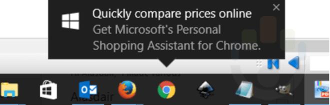Windows 10: Werbe-Popup für den Personal Shopping Assistant
