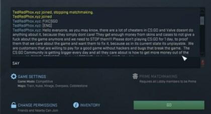 Counter-Strike: Chat-Bot