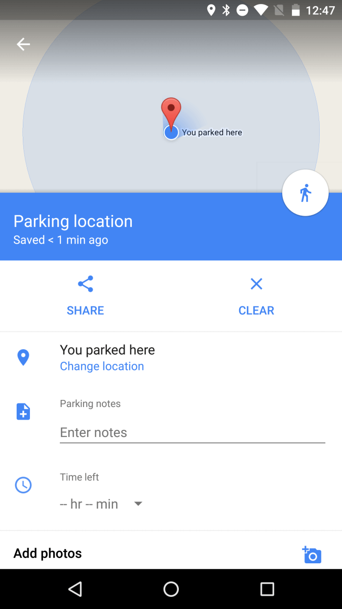 Google Maps: Parken & Co.