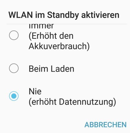 Akkusparguide für Android